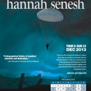 Hannah Senesh Play Poster
